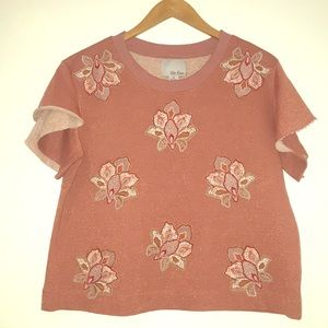 🍁CHLOE OLIVER 'Padma' embroidered top